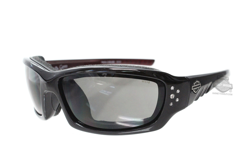 Harley-Davidson® HD Gem Smoke Grey Lens in a Red Sunglow Frame Sunglasses or Goggle by Wiley X®