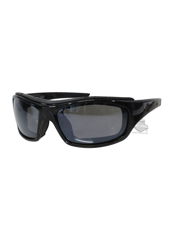 09cdff73be12 Harley-Davidson® HD Tunnel Silver Flash Smoke Grey Lens in a Gloss Black  Frame