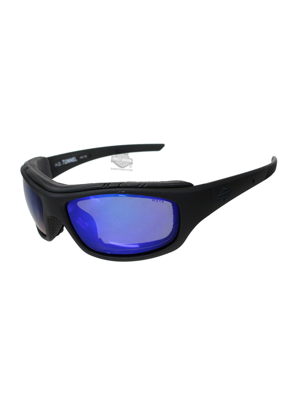 4b62a5b27c0f Harley-Davidson® HD Tunnel PPZ Blue Mirror Lens in a Matte Black Frame by