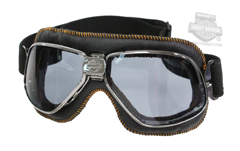 Harley-Davidson® HD Rally Grey Lens in a Dark Metal Frame with Orange Goggle by Wiley X®