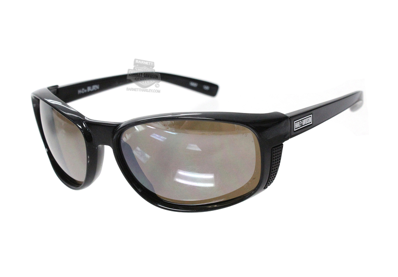 Harley-Davidson® HD Burn Silver Flash Copper Lens in a Black Quartz Frame Sunglasses by Wiley X®
