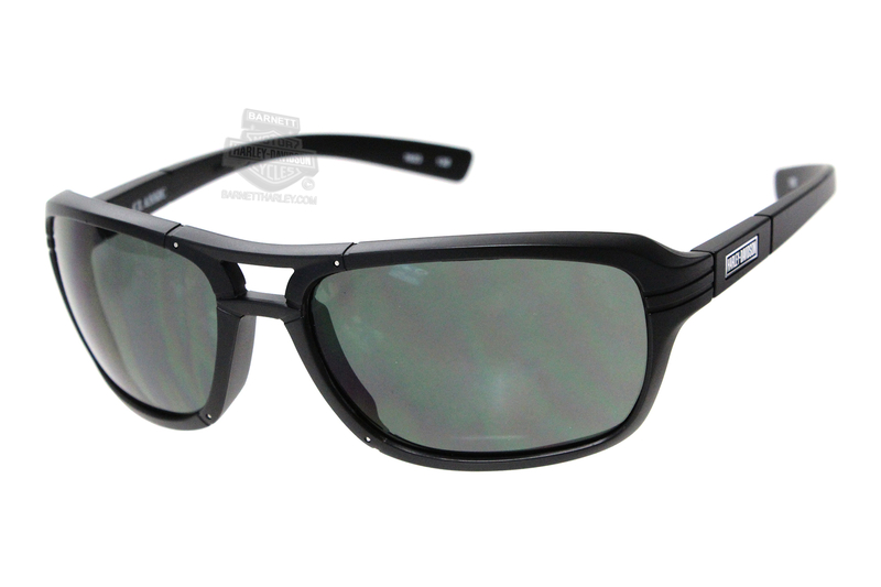 42e76adb5c6d Harley-Davidson® HD Classic Smoke Green Lens in a Matte Black Frame  Sunglasses by