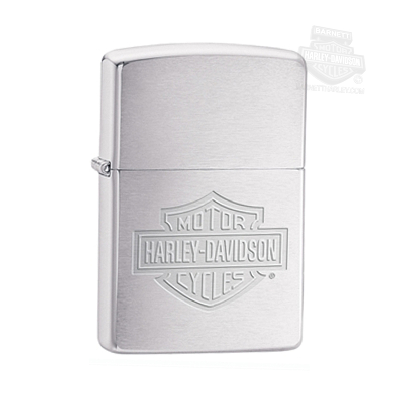 Harley-Davidson® BHD B&S Brushed Chrome Zippo Lighter