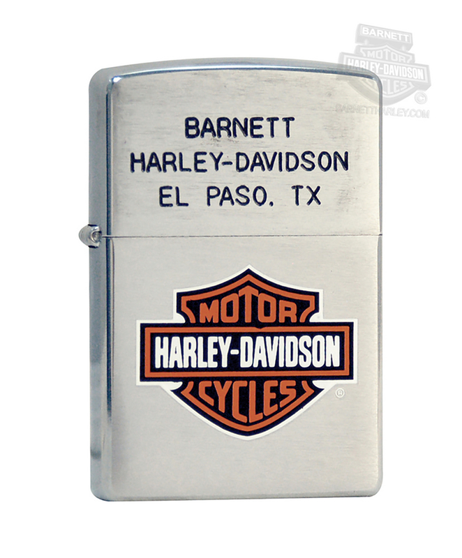 Harley-Davidson® BHD Brushed Chrome Zippo Lighter