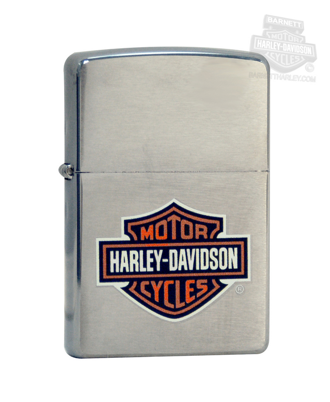 Harley-Davidson® B&S Brushed Chrome Zippo Lighter
