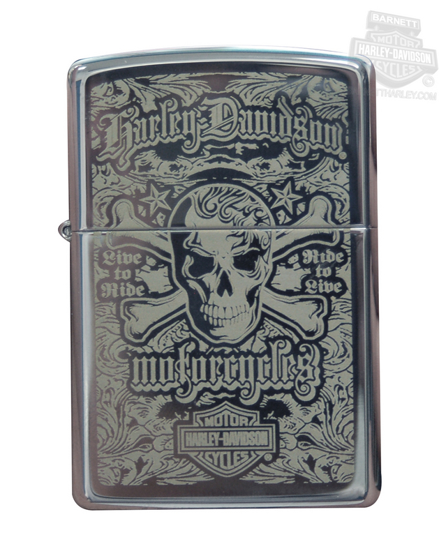 Harley-Davidson® Mine To Ride Skull Zippo® Lighter