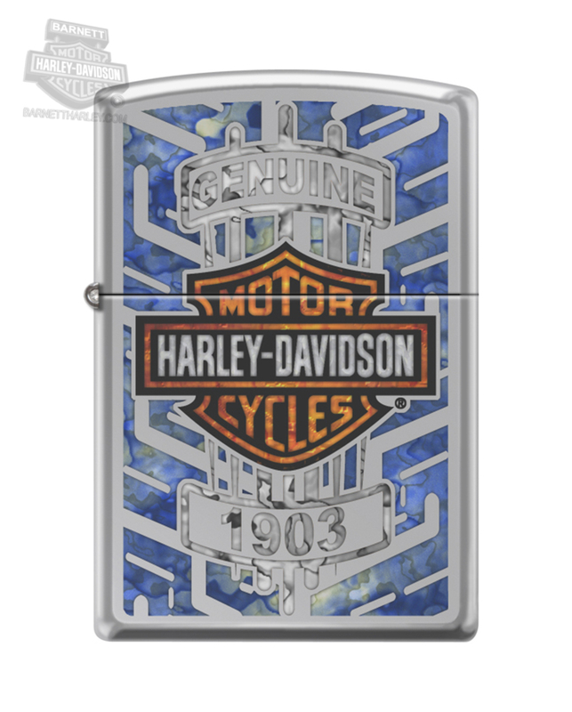 Harley-Davidson® Mens Genuine B&S High Polish Chrome Finish Chrome Zippo Lighter