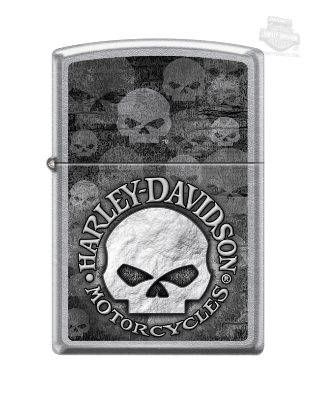 Harley-Davidson® Mens Willie G Skull Street Chrome™ Zippo Lighter