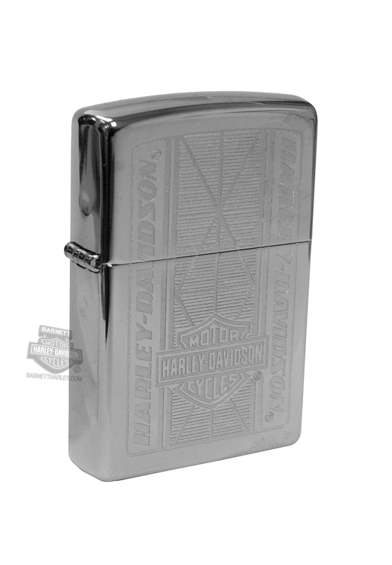 Harley-Davidson® Mens High Polish Chrome B&S Zippo Lighter