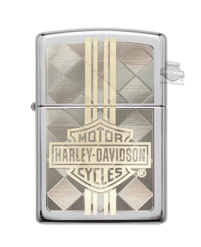 Harley-Davidson® B&S Engraved High Polish Chrome Zippo Lighter