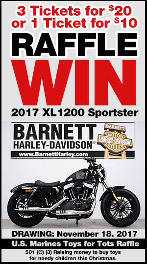 Barnett Harley-Davidson Marines MC Raffle Bike Toys For Tots