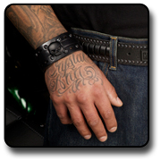 Mens Wrist Cuffs by LODIS